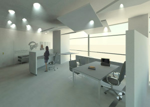 Render progetto arredi uffici 3