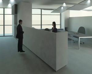 Render progetto arredi uffici 2